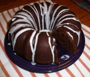 Glazed Chocolate-Pumpkin Bundt Cake
