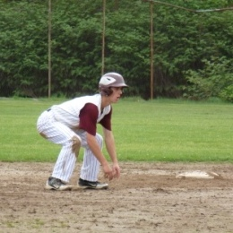 Leading off second base