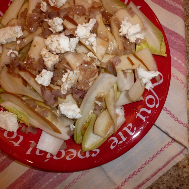 Pear, Endive and Goat Cheese Salad