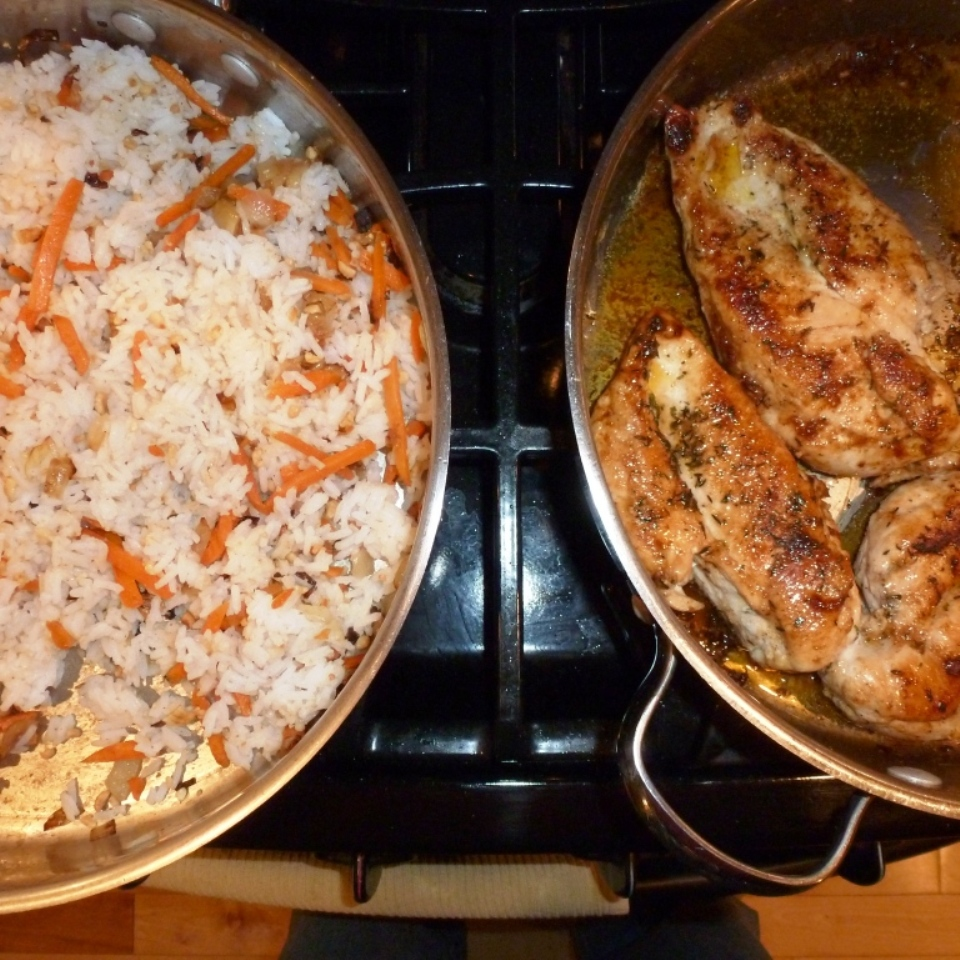 Garlic Lime Chicken and Carrot Rice