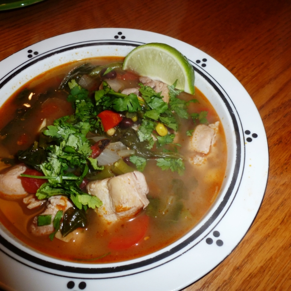 Southwestern Chicken & Vegetable Soup