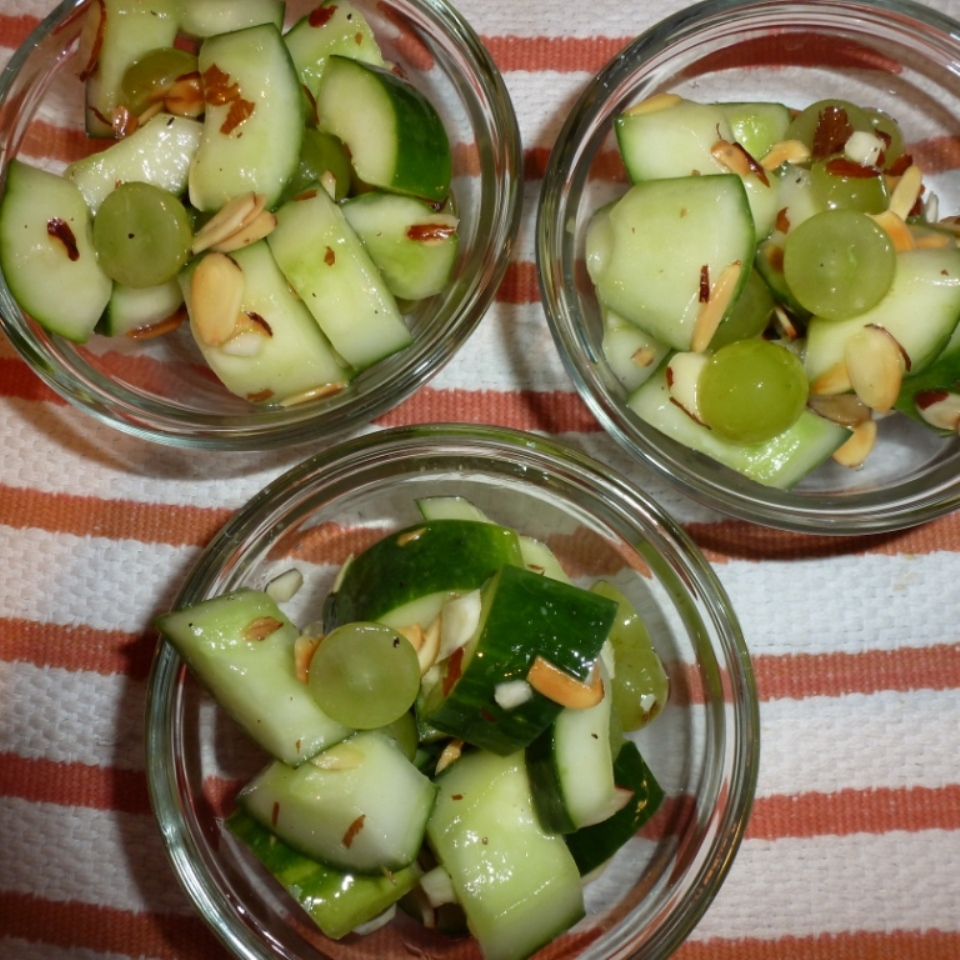 Cucumber and Grape Salad with Almonds