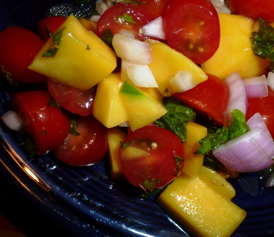 Mango and Tomato Salad | Cooking with an Evolved Dad