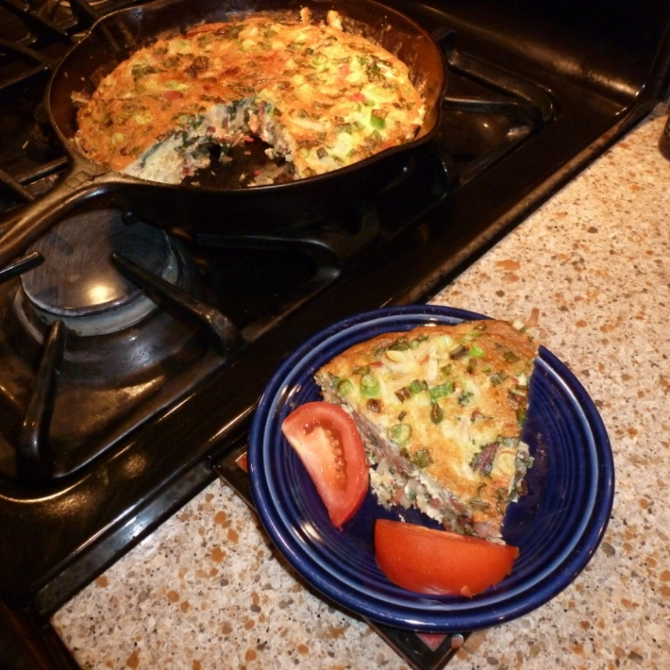 Chard and Pepperoni Frittata