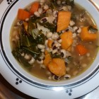 Black Eyed Peas with Sweet Potatoes and Greens