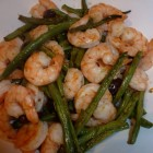 Honey-Pepper Roasted Shrimp with Green Beans and Olives